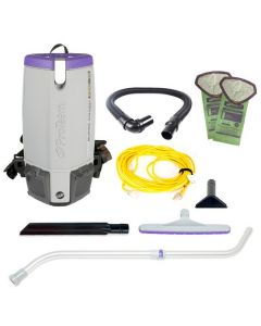 Super Coach Pro 10 Backpack Vacuum with Multi-Surface Telescoping Wand Tool Kit