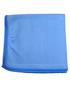 16x16 Glass Cleaning Microfiber Cloth - Blue