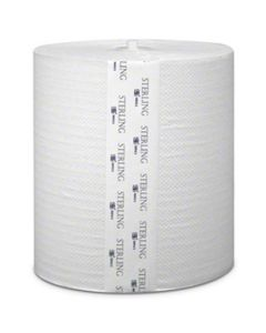 SSS Sterling Select White Hardwound Roll Towel - 8x1000