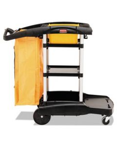 Rubbermaid High Capacity Cleaning Cart with Vinyl Bag