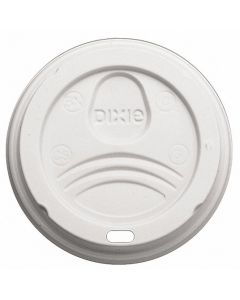 Plastic Dome, Sip Through Hot Cup Lid - White
